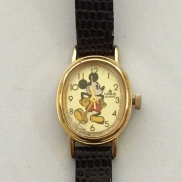 Mickey Mouse Watch Value >> Disney Lorus Quartz Mickey Mouse Watch Vintage